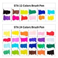 Watercolor Brush Pens | Paint Marker Set | Calligraphy, Sketching, Lettering,Art 24 Color
