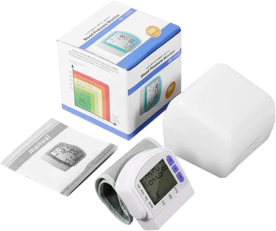 YHML Monitor de presión Arterial de muñeca Digital automático preciso LCD Chip alemán Frecuencia de Pulso Terapia tonómetro Sphygmomanometer CE