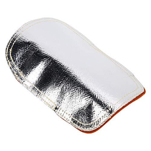 용접 핸드 패드 가죽 알루미늄 도금 백 열 차폐 스플릿 가죽 / Welded Hand Pad, Leather Aluminum Plated Back Heat Shield Split Cowhide