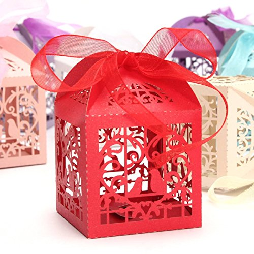 Bazaar 10pcs Pierced Birdcage Candy Sweet Gift Box Wedding Party Cake Chocolate Box