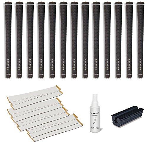 Golf Pride Tour Velvet Jumbo - 13 pc Golf Grip Kit (with Tape, Solvent, Vise clamp) ()
