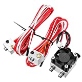 1.75mm/3.0mm Fialment 0.4mm Nozzle Upgraded Dual Head Extruder Kit for 3D Printer - (Size: #1)