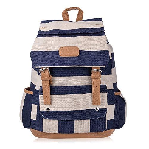 Vbiger Backpack Knapsack Striped Pattern
