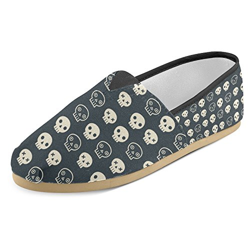 Interestprint Womens Loafers Klassiska Avslappnade Kanfassnedsteget På Mode Skor Gymnastik Mary Jane Platt Skalle 5