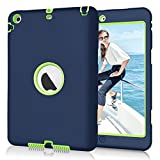 ipad 1 cover blue - iPad mini/2/3 Case, Hocase Hybrid Dual Layer High Impact Shock Absorbent Silicone Protective Hard Case for Apple iPad mini/2/3 - Navy Blue / Fluorescent Green
