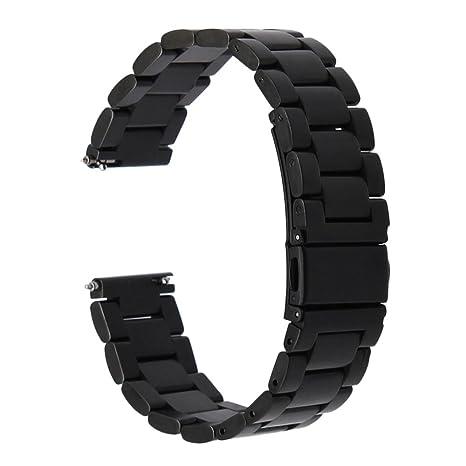 Vinciann Correa Acero inoxidable negro + conectores para ...