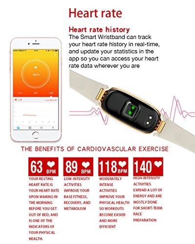 Amazon.com: SHENGMO Bluetooth Waterproof S3 Smart Watch Fashion Women Ladies Heart Rate Monitor Smartwatch relogio inteligente For Android IOS reloj (gold): ...