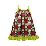 Vska Girls Kids Cotton Dashiki African Wax Fabric Summer Sundress Yellow XS