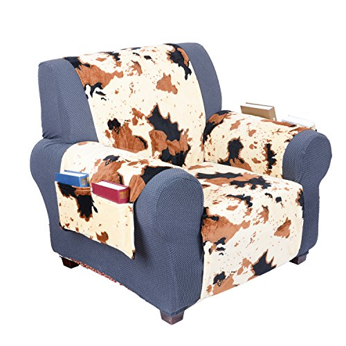 YEMYHOM Real Non-slip Pet Dog Sofa Covers with Waterproof Flannel Fabric (Chair, Pattern Printed)