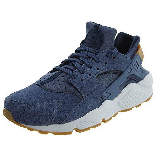 NIKE Air Huarache Run Suede Womens Shoes Diffused Blue aa0524-400 (7 B(M) - Outlets 400 Premium