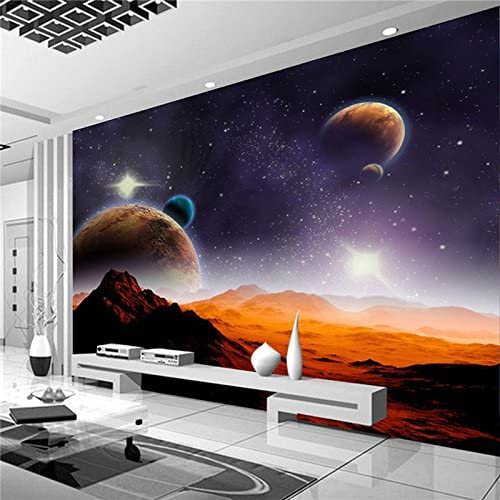 Amazon Com Large 3d Stereo Wallpaper Mural Planet Desert Landscape Background Bedroom Tv Background Wall Home Kitchen