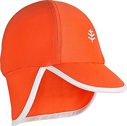 Coolibar UPF 50+ Baby Splashy All Sport Hat - Sun Protective (12-24 Months- Tango/White)