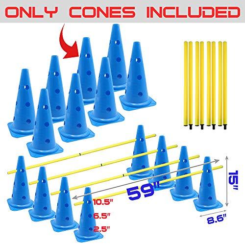 dog agility cone hurdles - 4