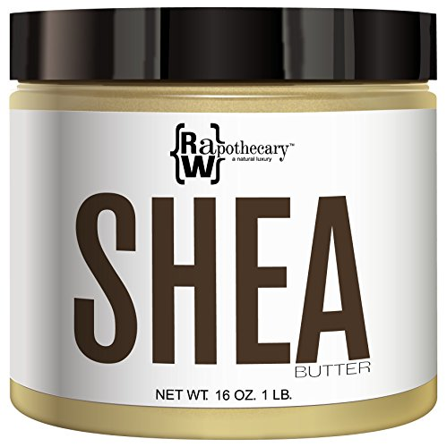 Shea Butter Jar (Ivory Shea Butter, 100% All Natural by Raw Apothecary- Top-Grade, Unrefined and Additive Free Ivory Butter (1 Pound))