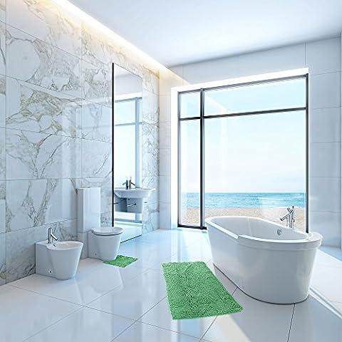 Luxury Home Textiles Microfiber Bathroom Floor Contour Rugs Combo, Set of 2 Soft Shaggy Non Slip Quick Dry Machine Washable Bathroom Mat (32x20) and U-shaped Toilet Floor Rug (18x18) (Men Bathroom Rug Set)