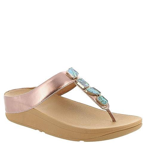 3add538aba8 Fitflop Women s Fino Shellstone Open Toe Sandals  Amazon.co.uk ...