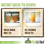 Instant Green Tea Powder - 100% Pure Tea - No Fillers, Additives or Artificial Ingredients of Any Kind 18 ✔ THE BEST GREEN TEA POWDER TO LOSE WEIGHT: Scientific studies have discovered that the main ingredients responsible for green tea slimming effects are caffeine and EGCG (epigallocatechin gallate). ✔ ONE SINGLE INGREDIENT: 100% pure green tea made from ground tea leaves. No flavors, preservatives, colors or fillers of any kind added. Not the diluted, off-tasting chemical filled product you're used to buying in the supermarket. This is as pure as it gets! ✔ HEALTHY ALTERNATIVE TO COFFEE: Minimally processed, and free of additives, Tea Factory Instant Green Tea offers a delicious, easy to consume instant tea that contains over one hundred times more antioxidants as compared to brewed tea.