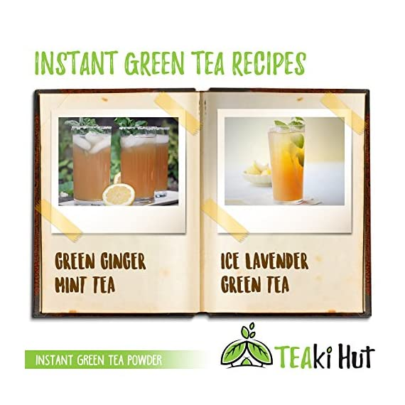 Instant Green Tea Powder - 100% Pure Tea - No Fillers, Additives or Artificial Ingredients of Any Kind 7 ✔ THE BEST GREEN TEA POWDER TO LOSE WEIGHT: Scientific studies have discovered that the main ingredients responsible for green tea slimming effects are caffeine and EGCG (epigallocatechin gallate). ✔ ONE SINGLE INGREDIENT: 100% pure green tea made from ground tea leaves. No flavors, preservatives, colors or fillers of any kind added. Not the diluted, off-tasting chemical filled product you're used to buying in the supermarket. This is as pure as it gets! ✔ HEALTHY ALTERNATIVE TO COFFEE: Minimally processed, and free of additives, Tea Factory Instant Green Tea offers a delicious, easy to consume instant tea that contains over one hundred times more antioxidants as compared to brewed tea.