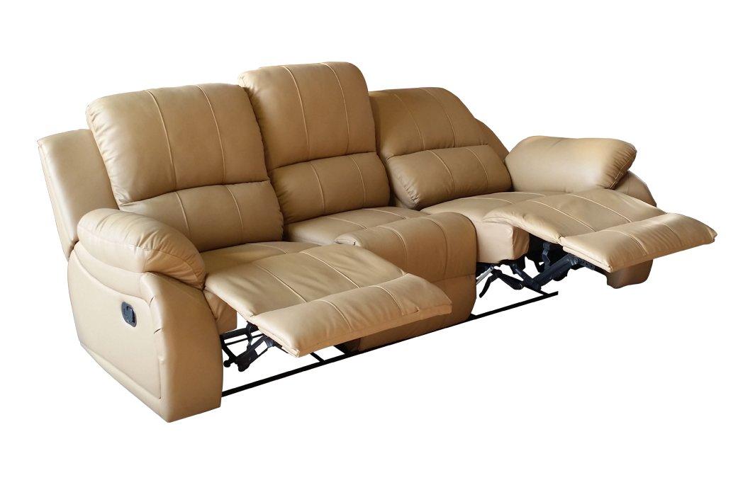 Voll-Leder Fernsehsofa Relaxsofa 3-Sitzer 5129-3-107