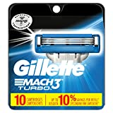 Gillette Mach3 Disposable Razors Gillette Mach3 Turbo Men's Razor Blade Refills, 10 Cartridge, Mens Razors / Blades