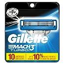 Gillette Mach3 Turbo Men's Razor Blade Refills, 10 Count, Mens Razors / Blades