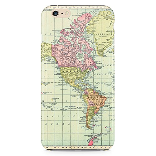 Phone Case For Apple iPhone 6 Plus - Antique World Map 1913 Back Lightweight