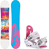 M3 Krystal 4 145cm Womens Snowboard + M3 Luna Bindings - Fits US Wms Boots Sized: 7,8,9,10