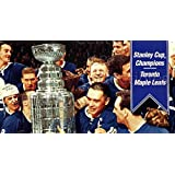 Johnny Bower, George Armstrong, Frank Mahovlich, Stanley Cup Hockey Card 1994 Parkhurst Tall Boys 64-65 #178 Johnny Bower, George Armstrong, Frank Mahovlich, Stanley Cup