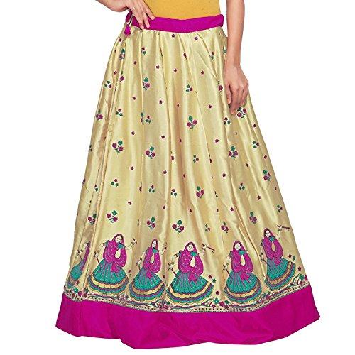Pink Gold Skirt and Satin Women Handicrfats Admyrin Export Indian wYI8qX