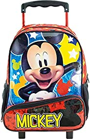 Mala com Rodas 16 Mickey Hey Mickey! 8960 - Artigo Escolar Mickey Mouse, Vermelho