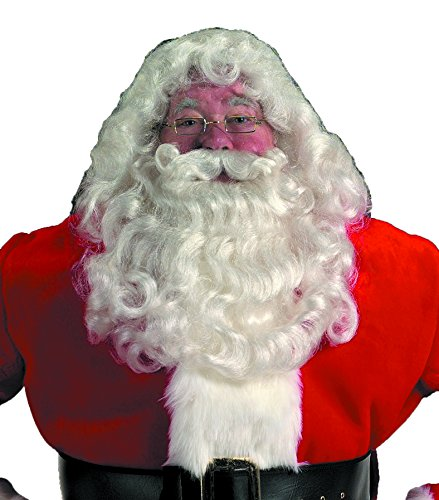 Halco Professional Santa Wig and Beard Set Costume Accessory,Red,One ()