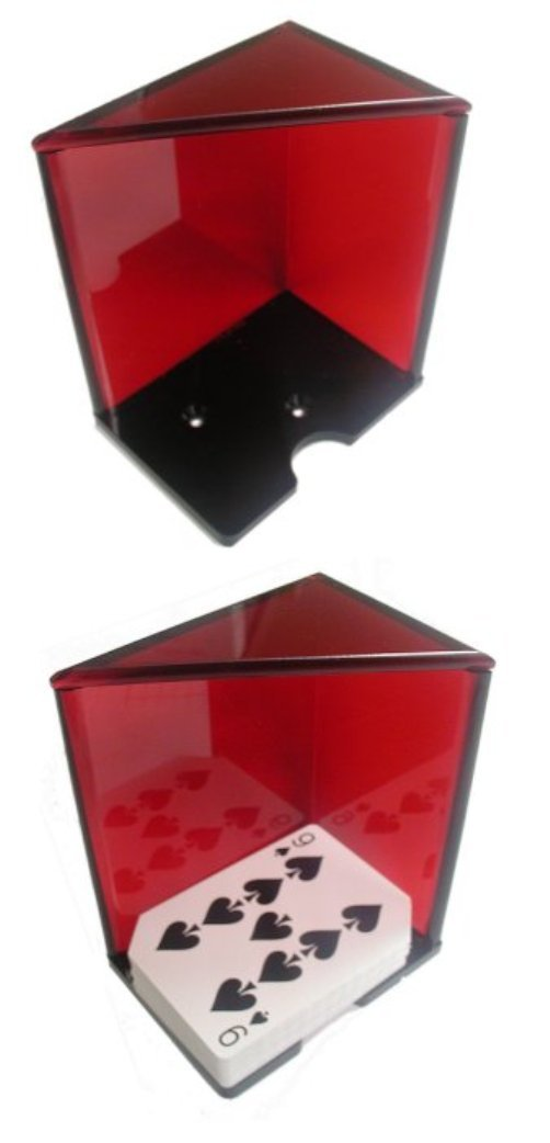 Red 6 Deck Acrylic Discard Holder - Casino Quality!