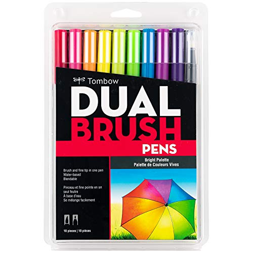 Tombow Pen Dual Brush Markers (Bright)