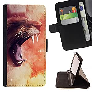 - Roar Big Cat Universe Sky Mystical Mythical - Estilo PU billetera de cuero del soporte del tir???¡¯????n [solapa de cierre] Cubierta- For Apple Iphone 6 £¨ Devil Case £©