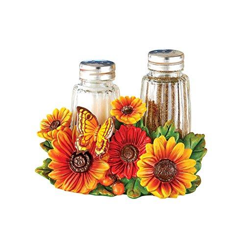 Cheerful Sunflower Kitchen Décor Salt and Pepper Shaker Accessory Set
