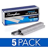 Swingline Staples, S.F. 4, Premium, 1/4'' Length, 210/Strip, 5000/Box, 5 Pack (35481)