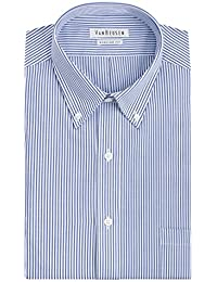 Men's Pinpoint Regular Fit Stripe Button Down Collar Dress Shirt