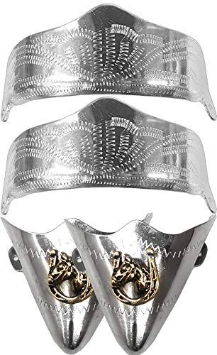Modestone 4 Pc Metal Boot Caps: 2 x Heel + 2 x Toe Horse Horseshoe Gold Silver