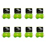 Hyper Pet 4-3/4 Inch Squawker Bone Dog Toy in Green/White (8 pack)