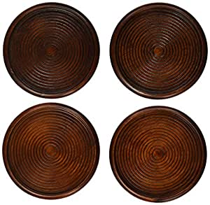 Lipper International Cherry Finish Coasters, Set of Four