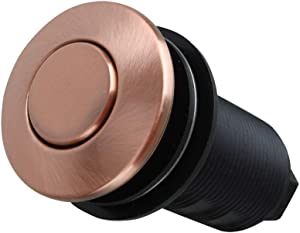 Copper Garbage Disposal Air Switch with Air Hose, Sink Top Push Button Replacement for Insinkerator Air Switch Garbage/Waste Disposal Outlet - Akicon
