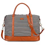 BAOSHA HB-28 Ladies Women Canvas Travel Weekender Bag Overnight Carry-on Duffel Tote Bag