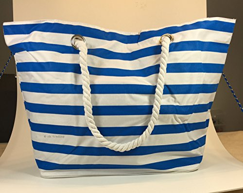 MT Canvas Beach amp; coloured Tote white blue multi Bag BzWBr1nx4