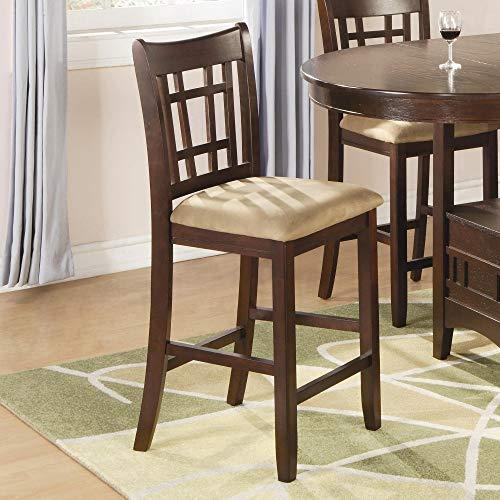 Set Of 2 Black Barstools Modern Swivel Rotatable Chairs