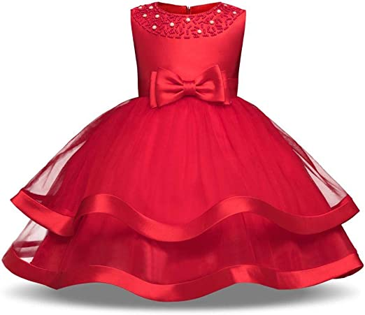 QJKai Falda Princesa Puff Host Falda Flor Vestido Falda Hecha a ...