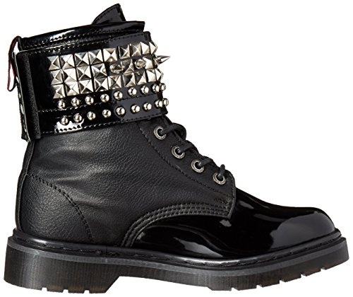 Demonia Vegan Bpu Pat Riv106 Black Boot Women's rF67rZ