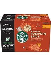 Starbucks Pumpkin Spice Flavoured Ground Coffee K-Cup Pods, 10 Count Box, 104 Gram