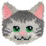 MCG Textiles Huggables Animal Kitty Pillow Latch Hook Kit