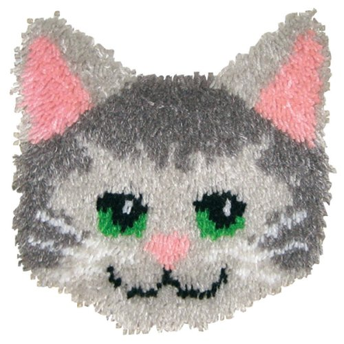 Huggable Kit - MCG Textiles Huggables Animal Kitty Pillow Latch Hook Kit