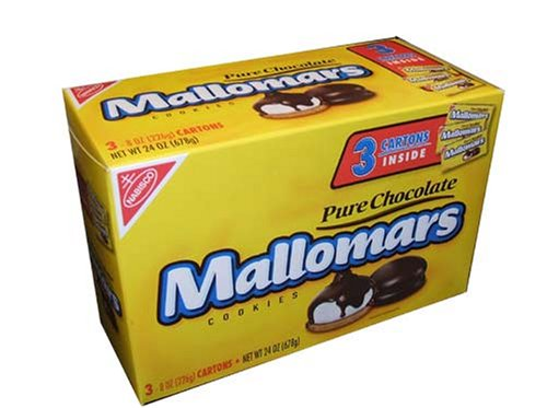 Mallomars Pure Chocolate Cookies 8 ounce box (Pack of 3) by Nabisco